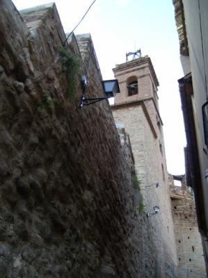 """Torre de la iglesia del """"Poble Vell""""."""